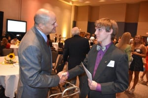 Scholarship Recipient with CFISD Superintendent